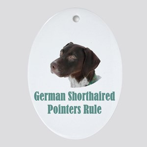 German Shorthaired Pointers Rule Oval Ornament