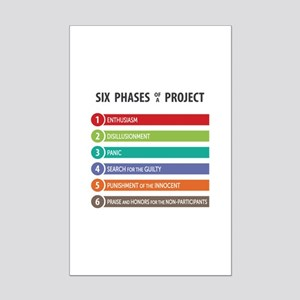 6 Phases of a Project Posters