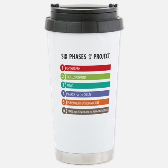 6 Phases of a Project Travel Mug