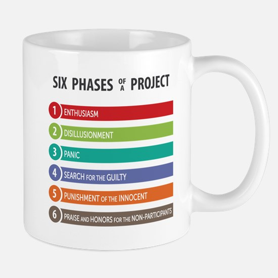 6 Phases of a Project Mugs