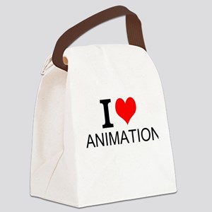 I Love Animation Canvas Lunch Bag