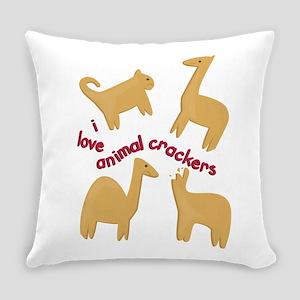 Love Animal Crackers Everyday Pillow