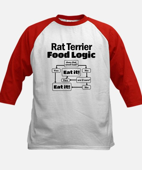 Rat Terrier Food Kids Baseball Jersey