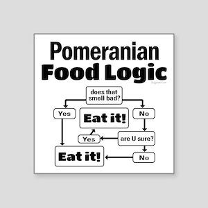 "Pomeranian Food Square Sticker 3"" x 3"""