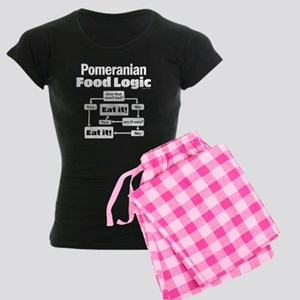 Pomeranian Food Women's Dark Pajamas