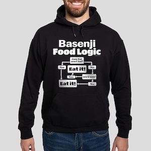 Basenji Food Hoodie (dark)