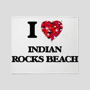 I love Indian Rocks Beach Florida Throw Blanket