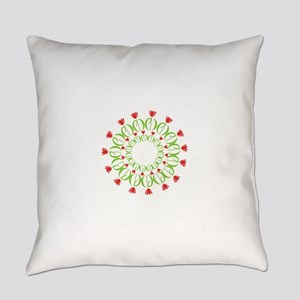 pd tulip wreath Everyday Pillow