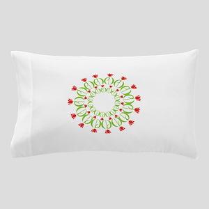 pd tulip wreath Pillow Case
