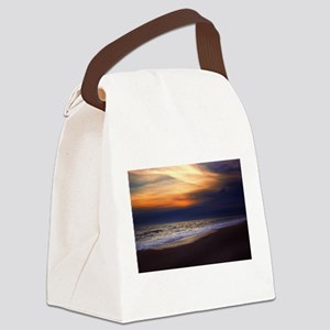Sunset Beach Canvas Lunch Bag