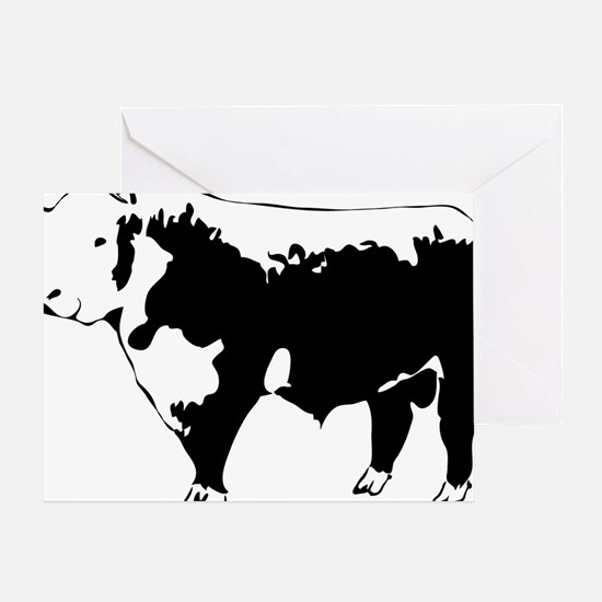 Cool Cattle Greeting Card