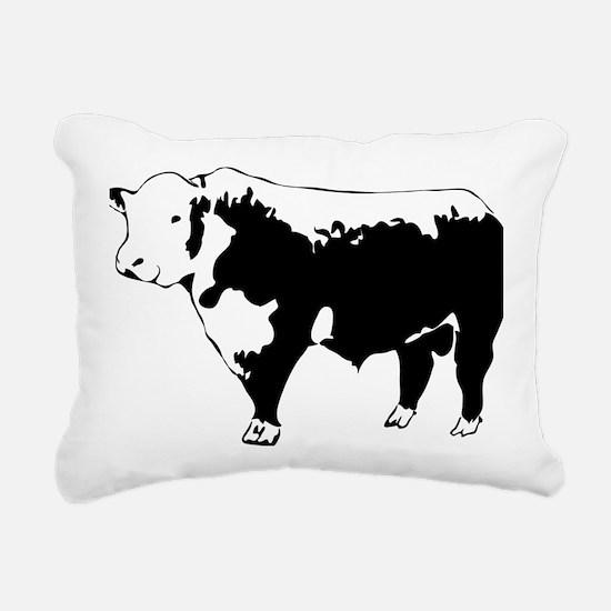 Cute Beef Rectangular Canvas Pillow