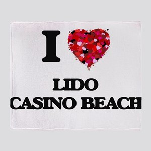 I love Lido Casino Beach Florida Throw Blanket