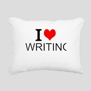 I Love Writing Rectangular Canvas Pillow