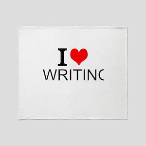 I Love Writing Throw Blanket