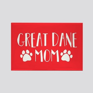 Great Dane Mom Rectangle Magnet