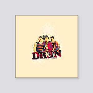 "Happy Days: Dren Square Sticker 3"" x 3"""