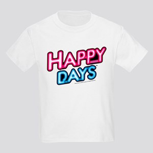 Happy Days Neon Light Kids Light T-Shirt