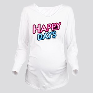 Happy Days Neon Ligh Long Sleeve Maternity T-Shirt