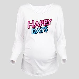 Happy Days Neon Ligh Long Sleeve Maternity T-Shirt