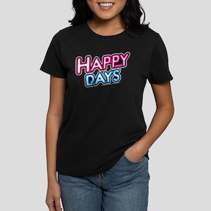 Happy Days Neon Light Women's Dark T-Shirt