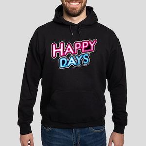 Happy Days Neon Light Hoodie (dark)