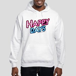 Happy Days Neon Light Hooded Sweatshirt