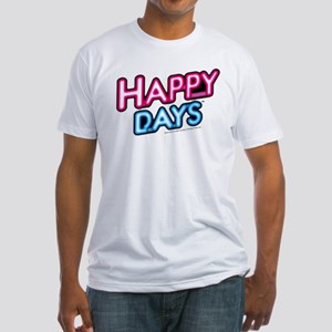 Happy Days Neon Light Fitted T-Shirt
