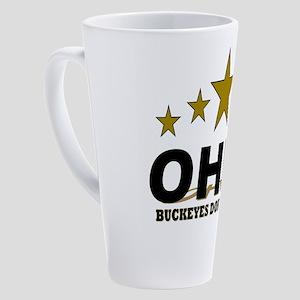 Ohio Buckeyes Don't Crack 17 oz Latte Mug