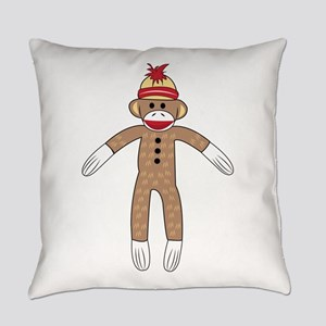 Sock Monkey Everyday Pillow