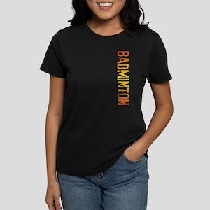 Badminton Stamp Women's Dark T-Shirt