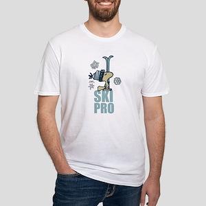 Peanuts Woodstock Ski Pro Fitted T-Shirt