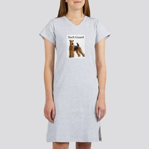 Airedale On Guard - Determined Women's Nightshirt
