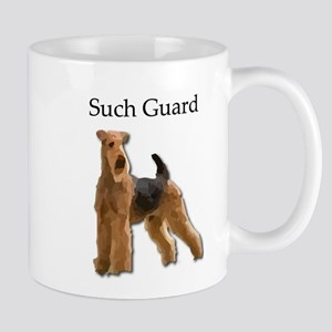 Airedale On Guard - Determined to Protect Fam Mugs