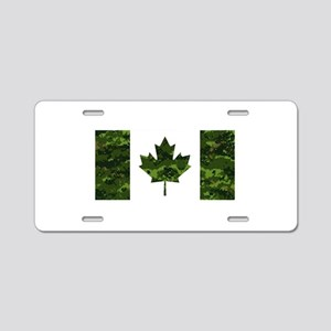 Canadian Flag with Green Ca Aluminum License Plate
