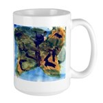 Butterfly Painting Large Mugs