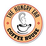 Hungry Ear Coffee House Round Car Magnet
