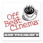 "Off Beat Cinema Square Car Magnet 3"" X 3&quot"