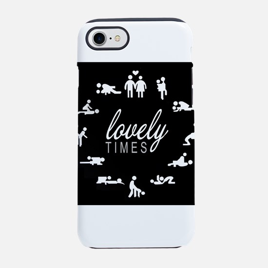 adult humor lovely times iPhone 8/7 Tough Case