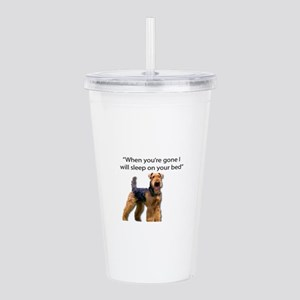 Airedale determined to Acrylic Double-wall Tumbler