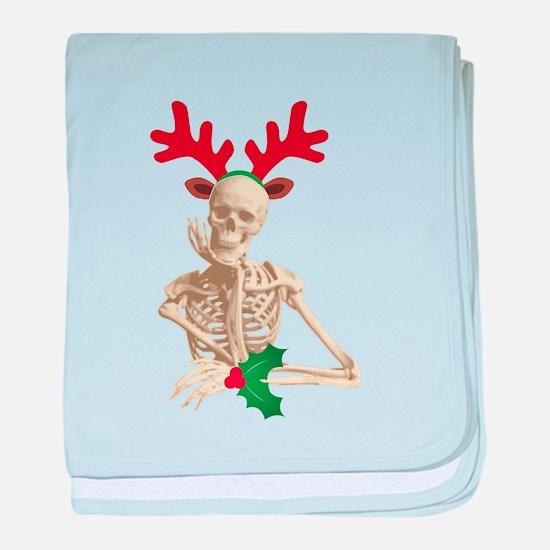 skeleton nightmare christmas baby blanket