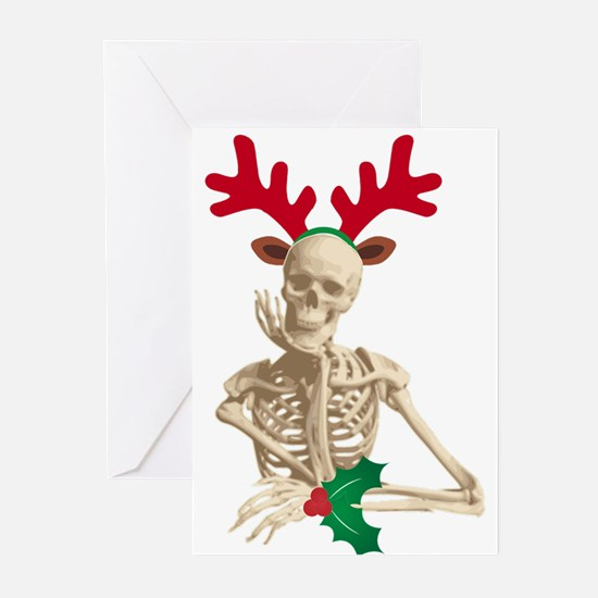 skeleton nightmare christmas Greeting Cards