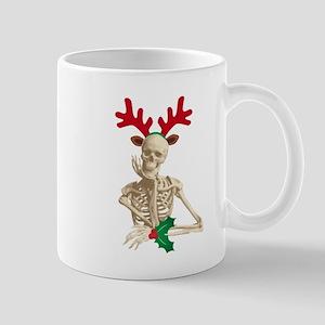 skeleton nightmare christmas Mugs
