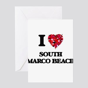 I love South Marco Beach Florida Greeting Cards