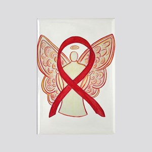 Red Awareness Ribbon Angel Magnets