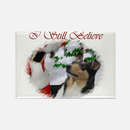 Smooth Collie Christmas Rectangle Magnet (10 pack)