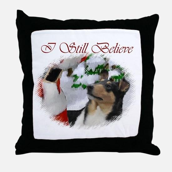 Smooth Collie Christmas Throw Pillow