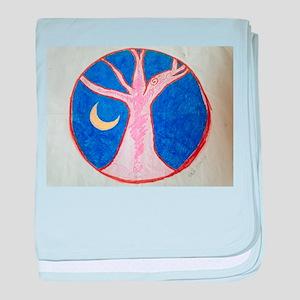 Pink Tree Mandala baby blanket