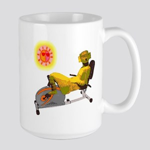 Chac Mool Recumbant Biker Large Mug