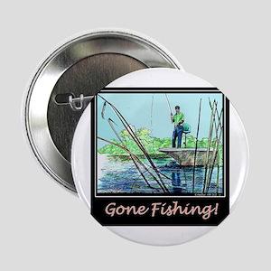 Gone Fishing Design Button